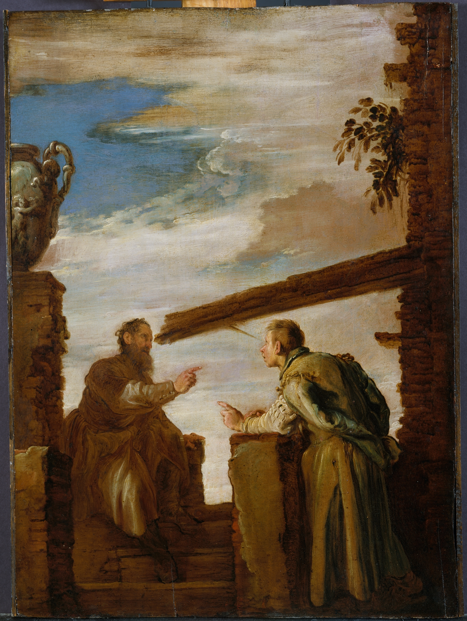 https://upload.wikimedia.org/wikipedia/commons/5/5f/Domenico_Fetti_-_The_Parable_of_the_Mote_and_the_Beam.jpg