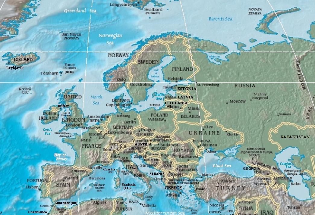 FileEurope Terrain CIA Map Extendedjpg Wikimedia Commons - Europe terrain map