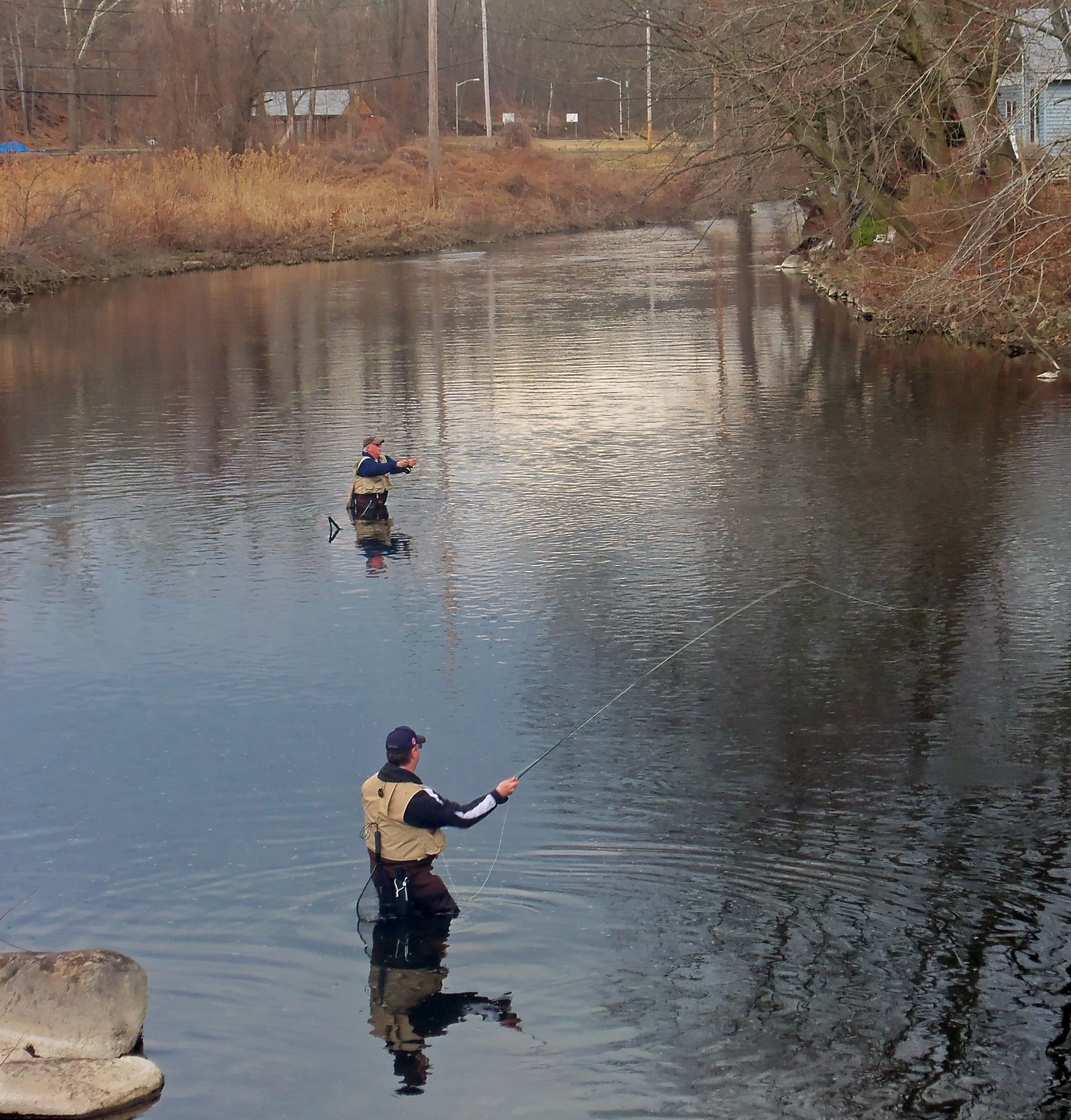 File fly fishing on the ramapo river on opening day of ny for Trout fishing nj
