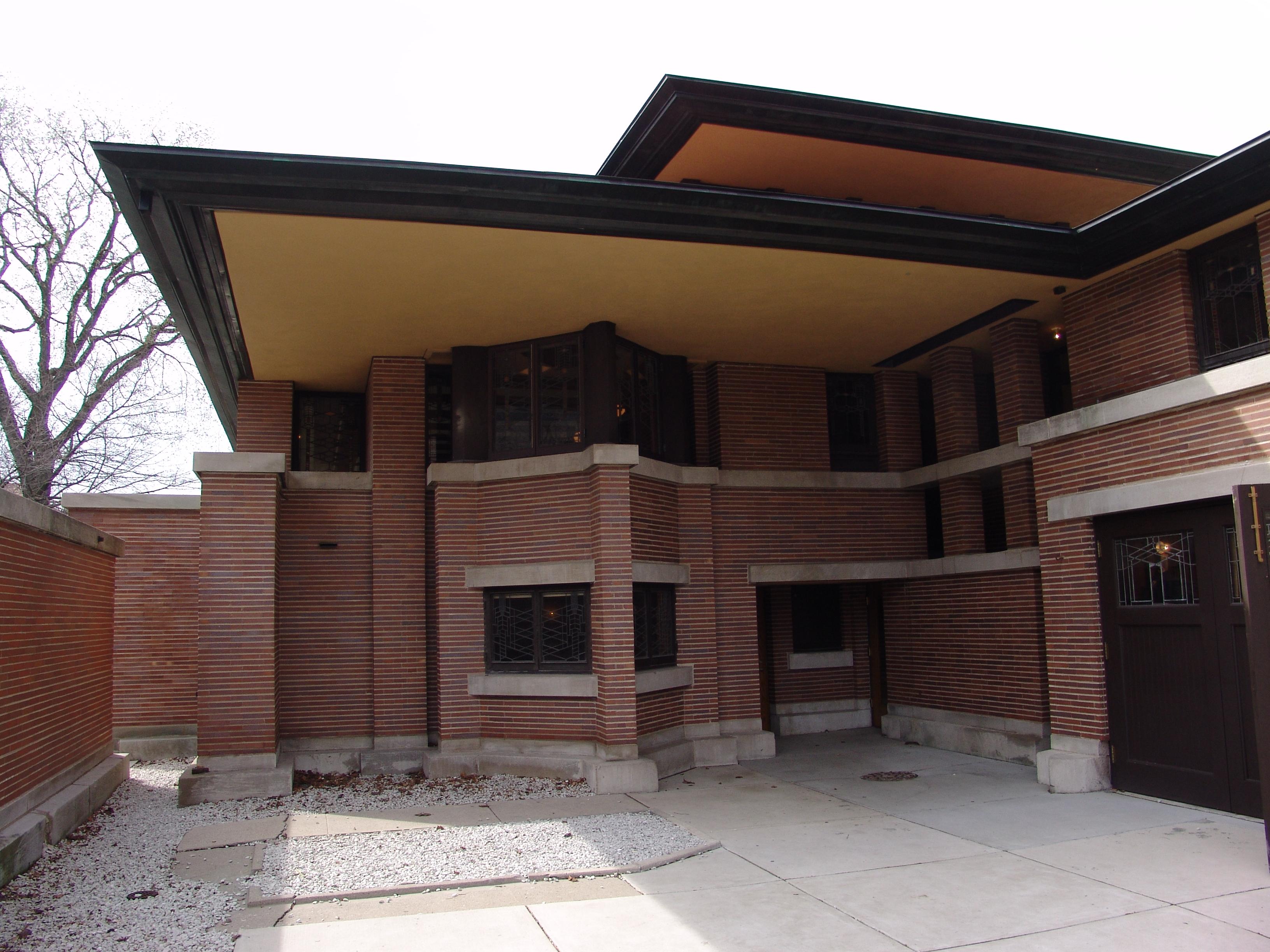 Modern Prairie Style File Frank Lloyd Wright Robie House 4 Jpg Wikimedia