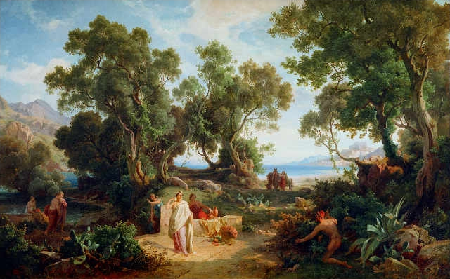 Friedrich Preller der Ältere - Odysseus and Nausicaa, 1864.jpg