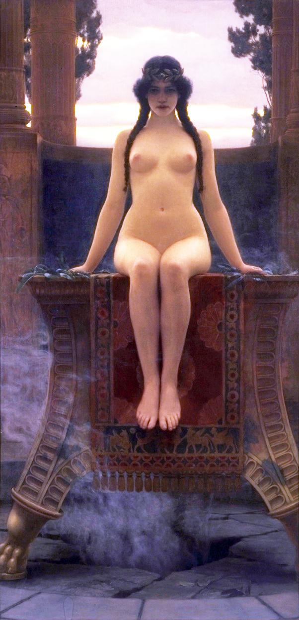 John William Godward, L'Oracle de Delphes, 1899