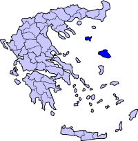 Location of Lesbos Prefecture in Greece