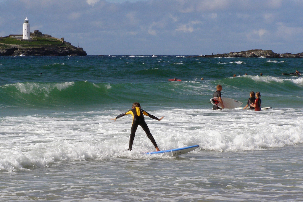 Cornwall's north coast is known as a centre for surfing