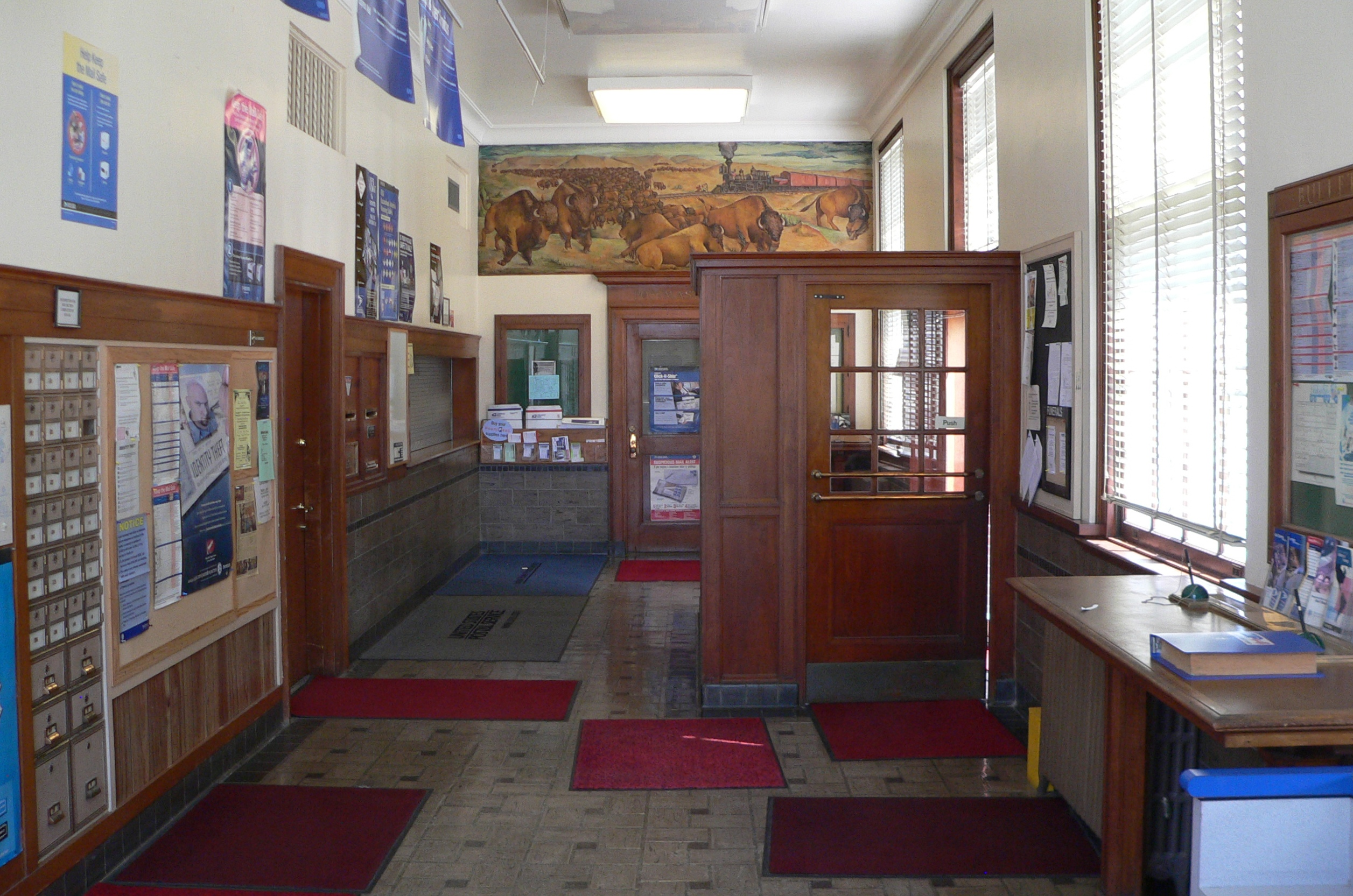 File hebron nebraska post office interior jpg wikimedia commons - Interior images ...