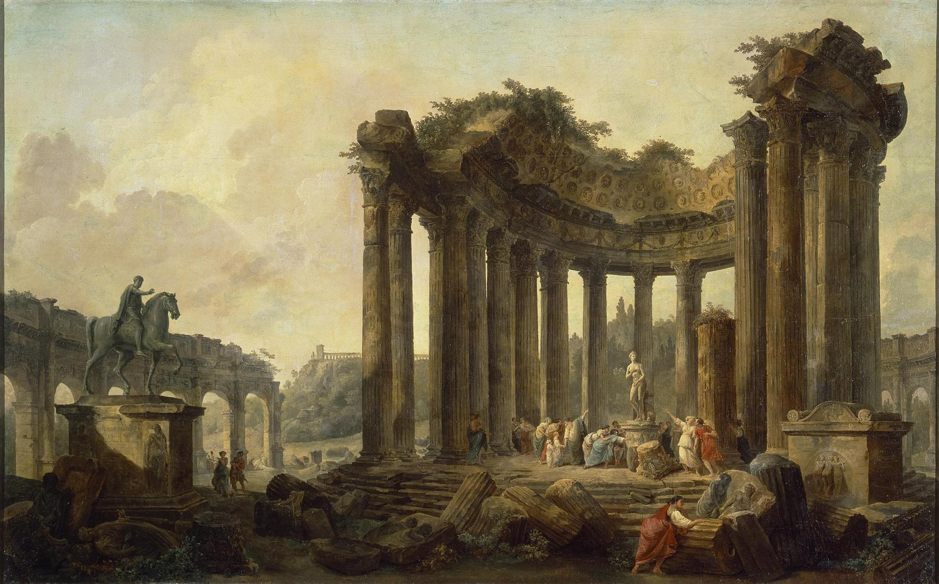 File:Hubert Robert   Landscape With The Ruins Of The Round Temple, With A