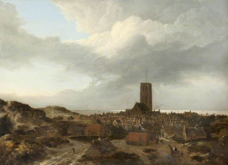 File:Jacob van Ruisdael - A View of Egmond aan Zee - Kelvingrove Art Gallery.jpg