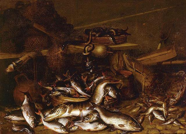 File:Johannes Fabritius - Still life of fish, eels, and fishing nets.jpg - Wikimedia Commons