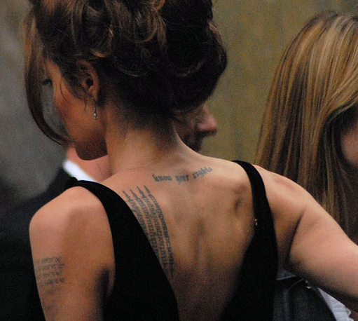 angelina jolie tattoo meaning. Does Angelina Jolie#39;s New