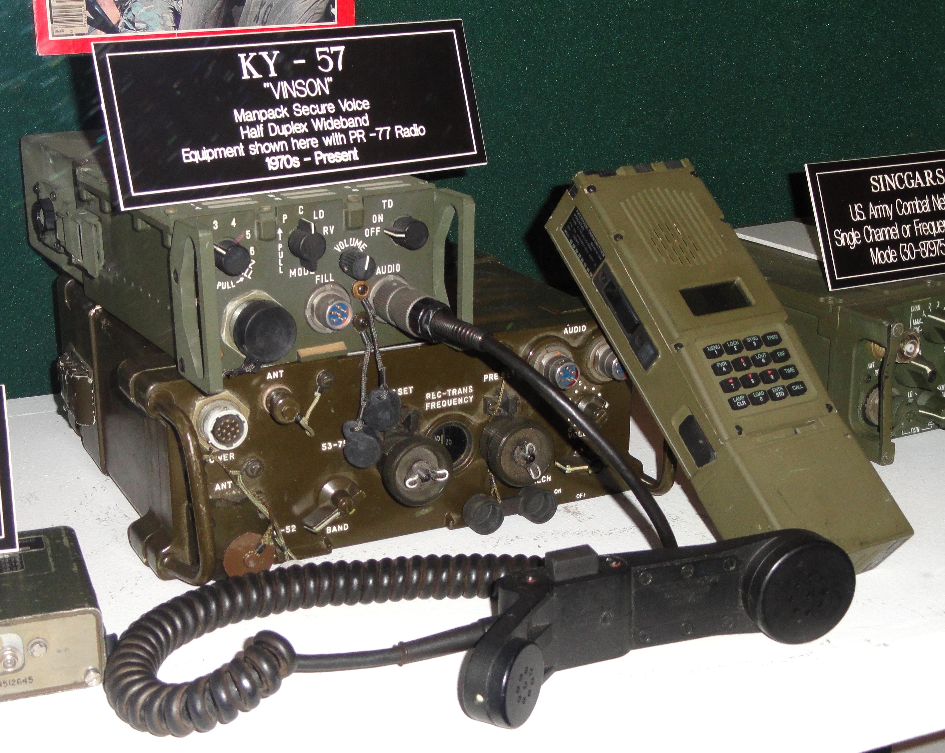 File:KY-57 VINSON manpack with PR-77 radio - National