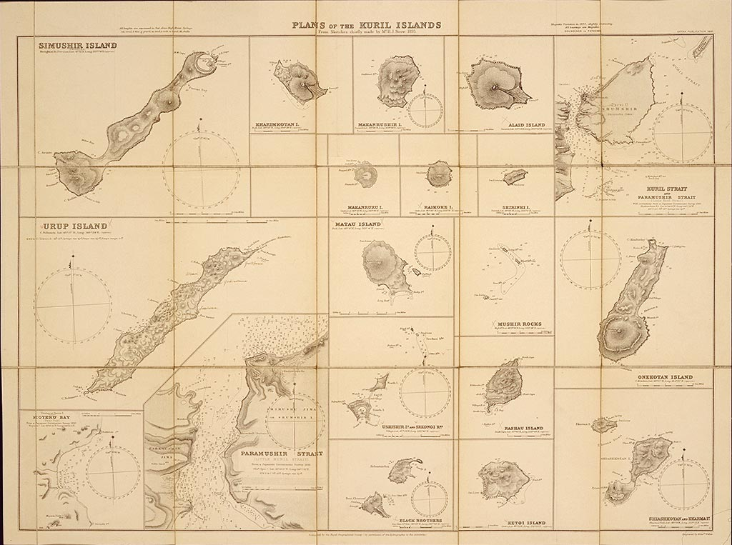 wikipedia) 2007-03-02 03:22 Sk 1024×763×8 (139304 bytes) Plans of the Kuril Islands, from sketches chiefly mand by Mr. H. J. Snow,1893. London,Royal Geographical