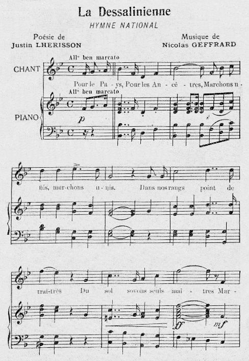 National anthem of haiti lyrics