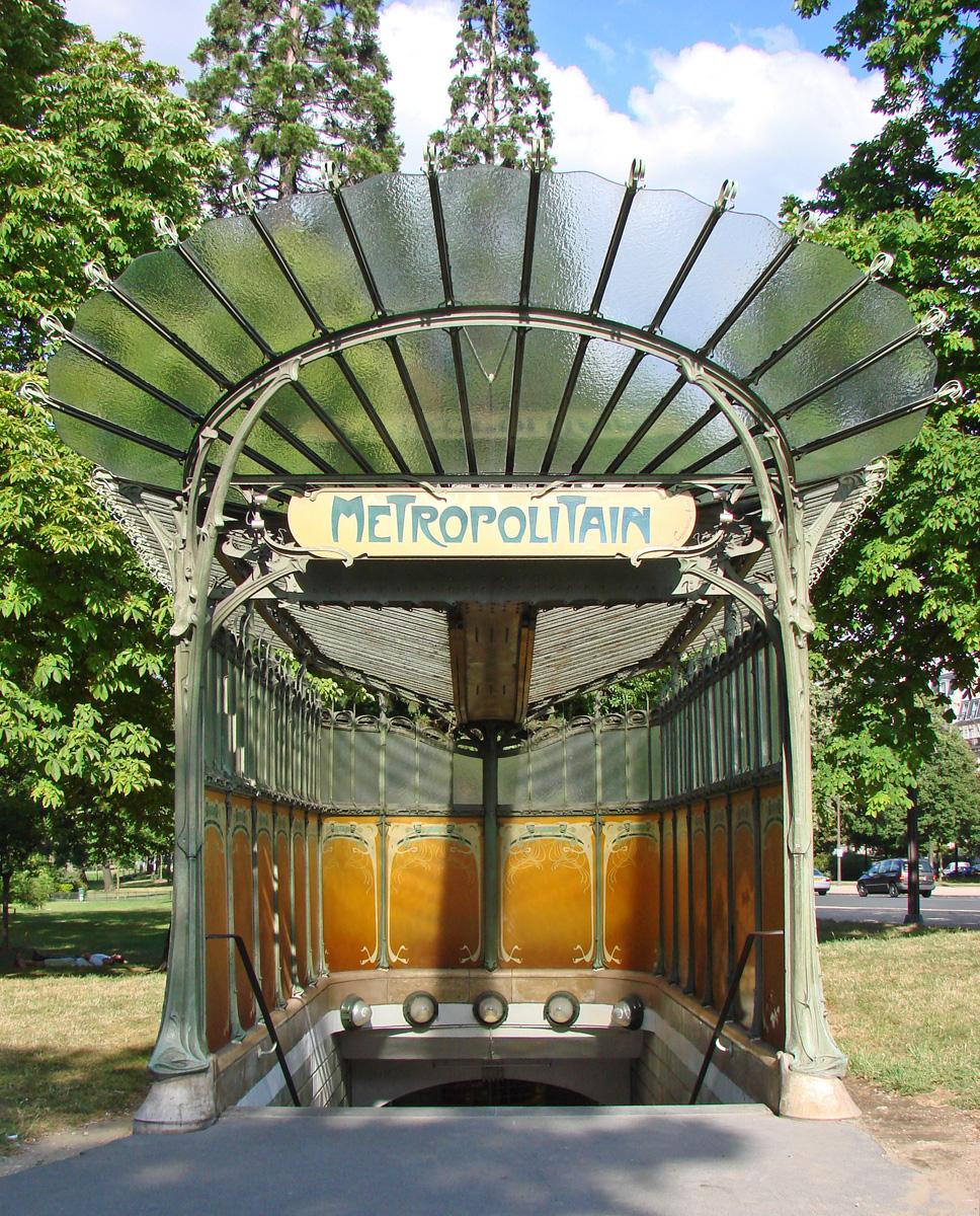 Plaque Metro Parisien Deco file:la station art nouveau de la porte dauphine (hector