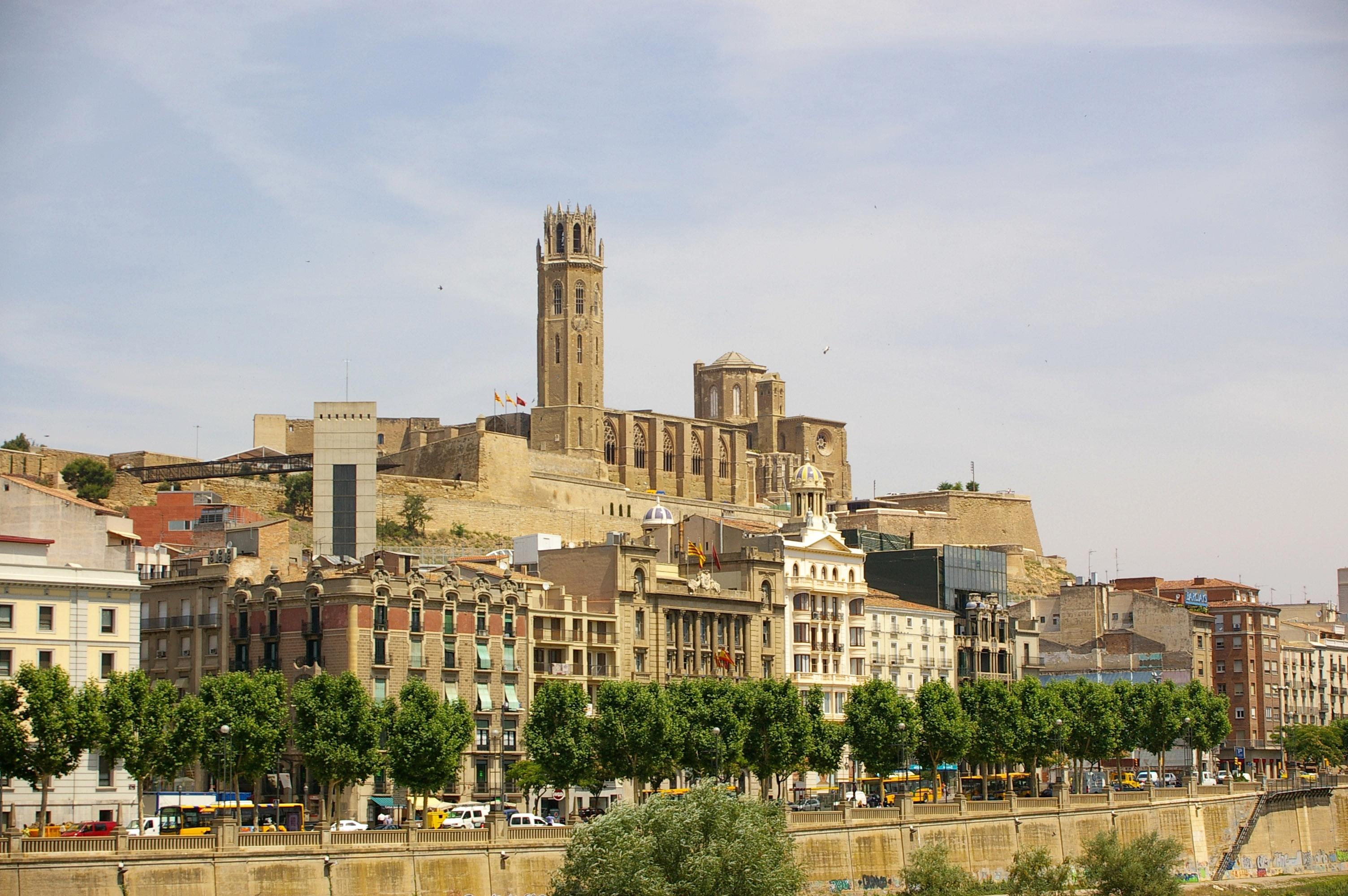 Lleida Spain  city pictures gallery : Archivo:Lleida La Seu Vella des de Cappont Wikipedia, la ...