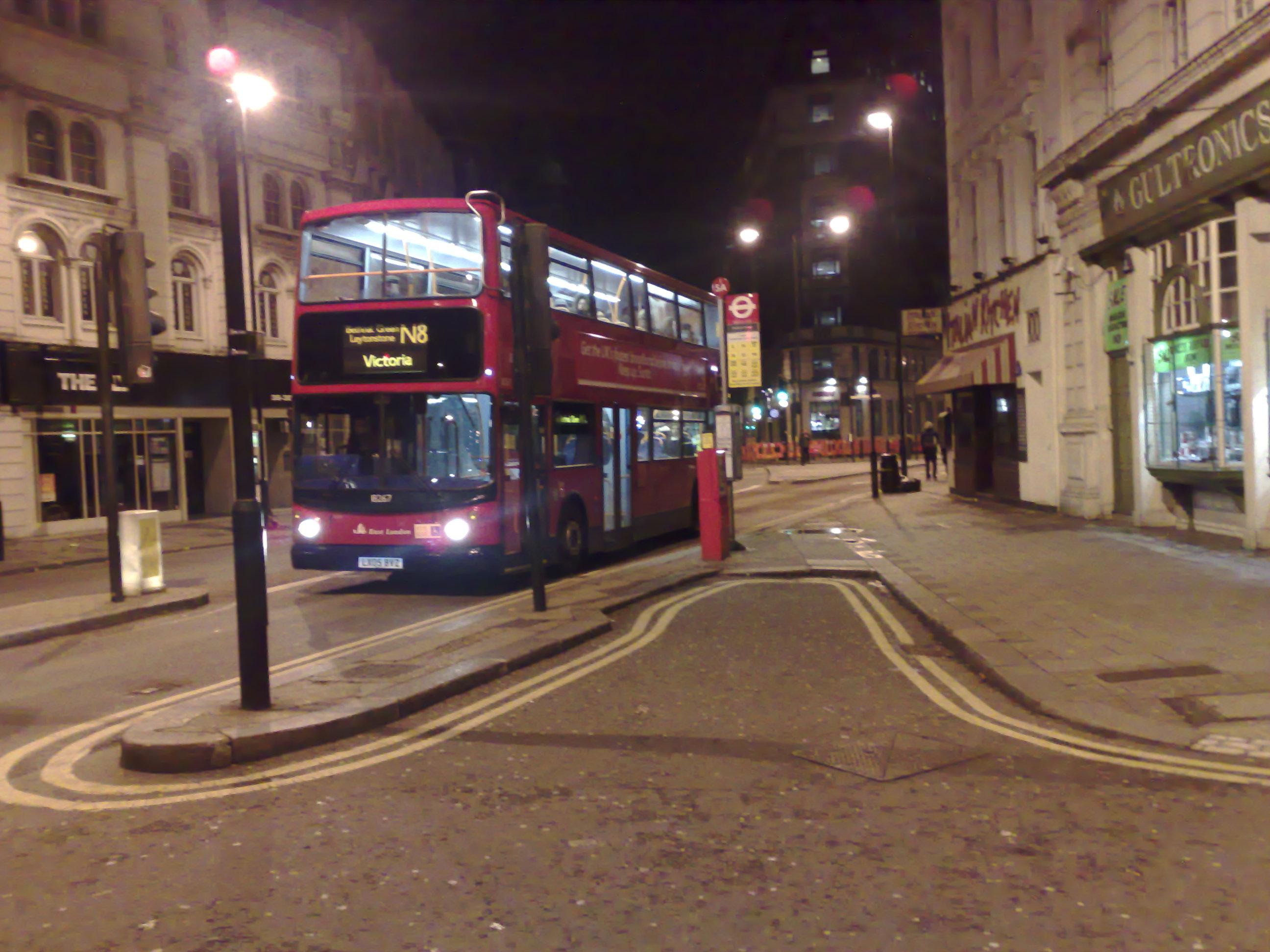 London Buses at Night File:london Night Bus n8 in