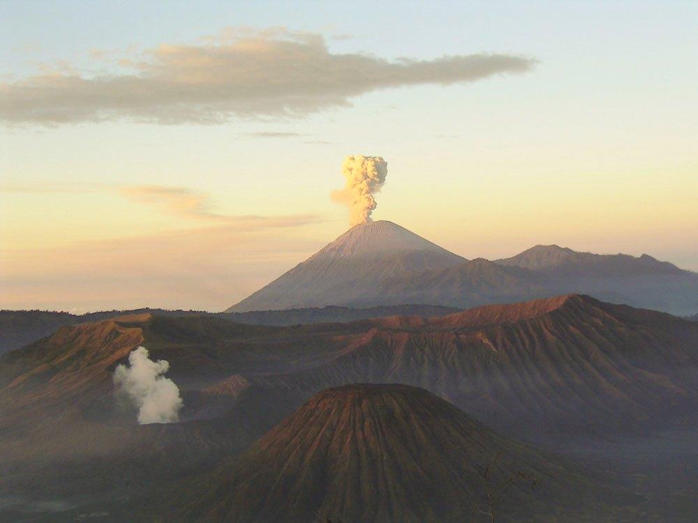 Semeru Volcano in Indonesia