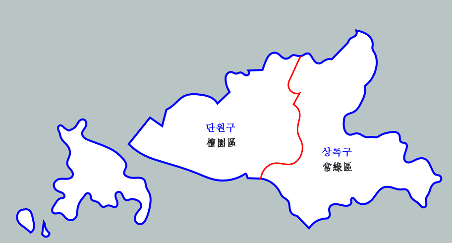 Ansan-si South Korea  city images : Administrative Districts of Ansan City, Gyeonggi Province which ...