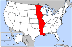 MIMAL Wikipedia - Map of the states