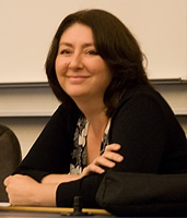 Maryam Namazie at a conference/lecture in Reyk...