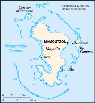 Location of Mayotte