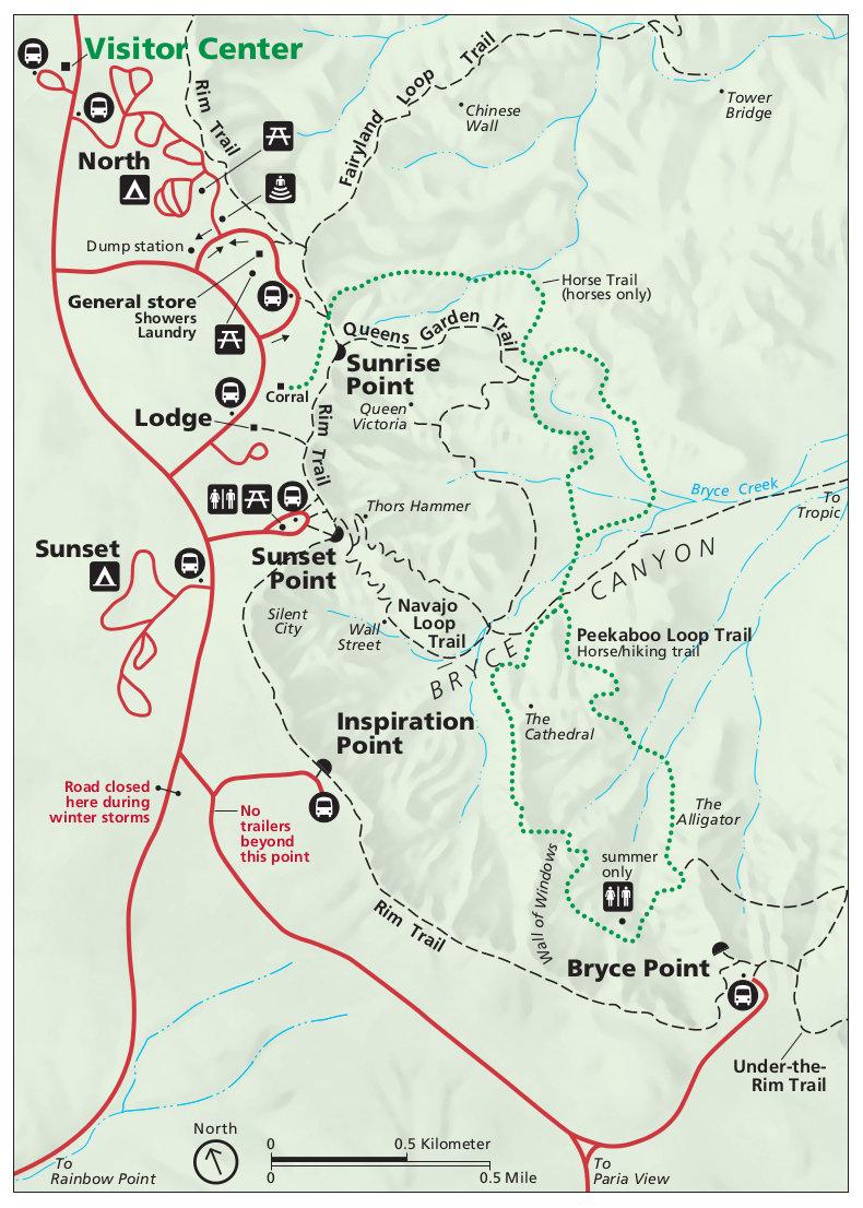 File Nps Bryce Canyon Amphitheater Map Jpg Wikimedia Commons