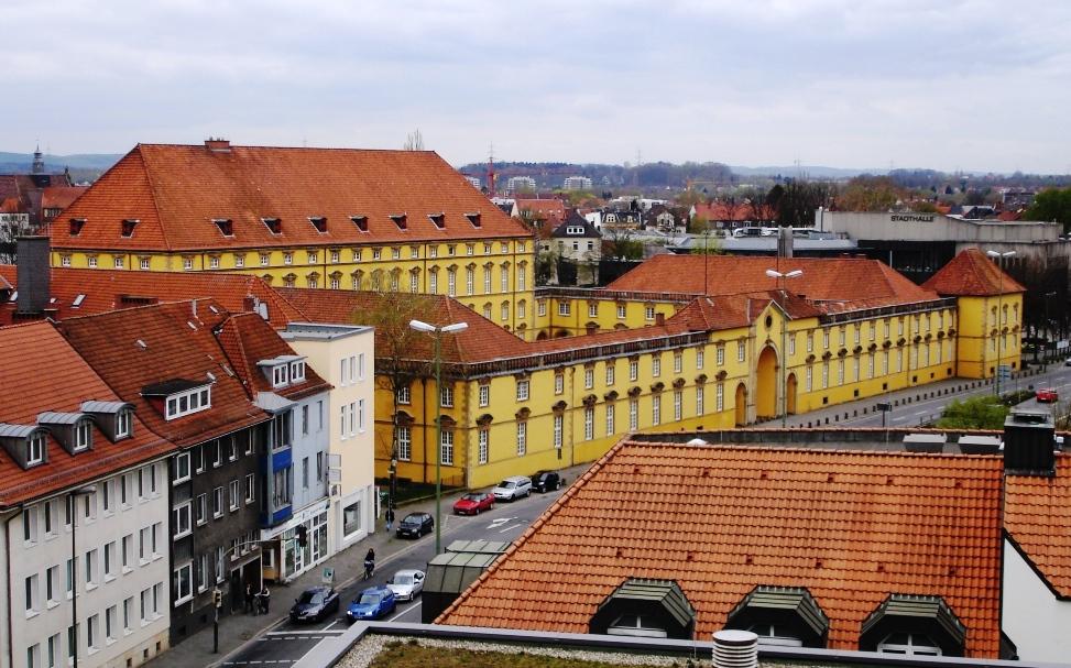 Osnabrück Castle. Das Osnabrücker Schloß in der Neustadt.