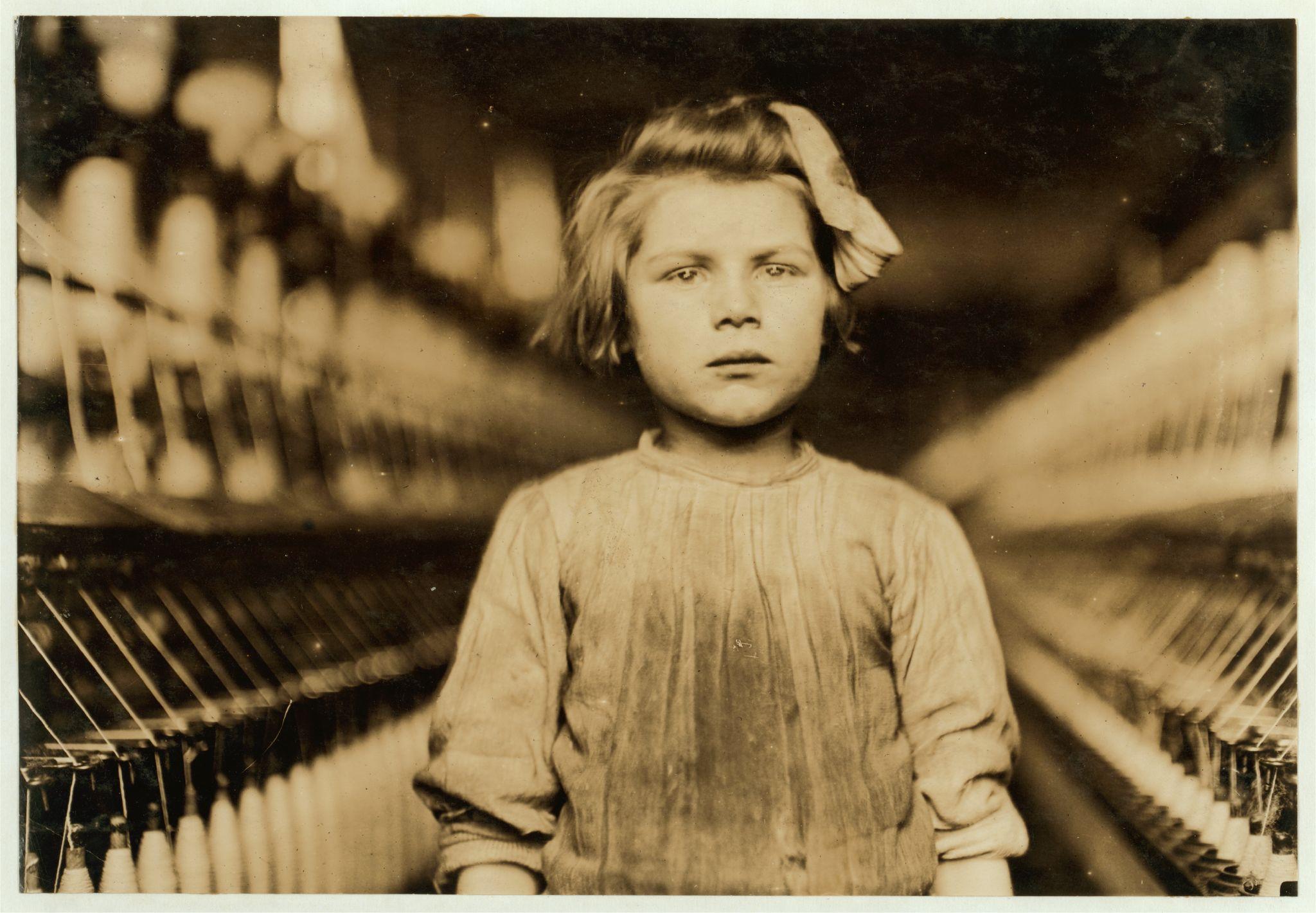 Child Worker, Globe Cotton Mill. Augusta, Ga. Photo by Lewis W. Hine, 1909