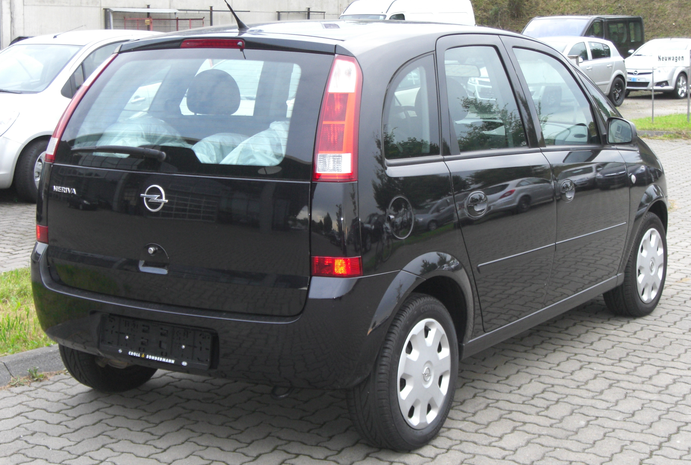 file opel meriva rear jpg wikimedia commons. Black Bedroom Furniture Sets. Home Design Ideas