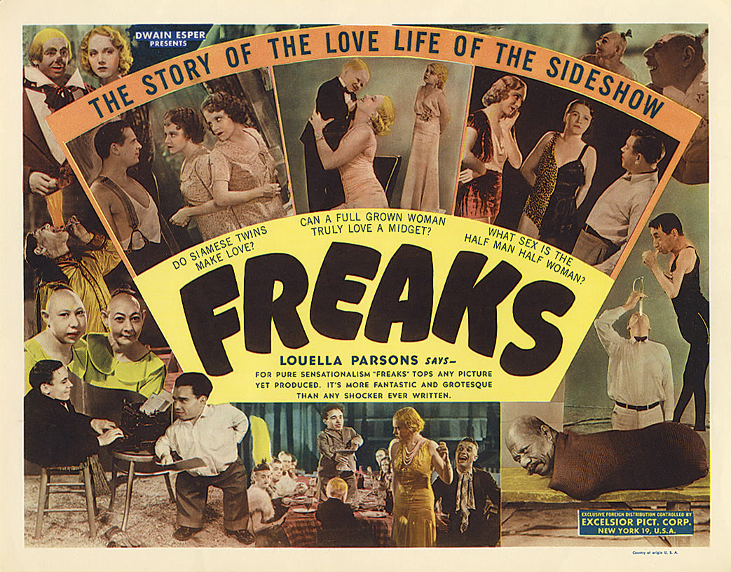 Freaks, insight into the circus, 1932 film poster