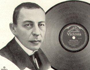 Изображение Рахманинова в рекламе звукозаписывающей компании Виктор (1921)