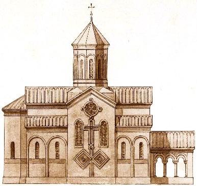 Fichier:Rear facade of a church, drawn by Prince Gagarin ...