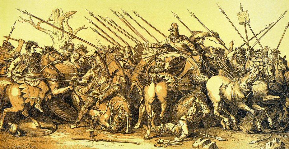 نبرد ایسوس (۳۳۳ پ. م) اولین نبرد مستقیم اسکندر است با سپاه داریوش سوم. داریوش و اسکندر در نزدیکی شهر ایسوس با یکدیگر رو به رو شدند.