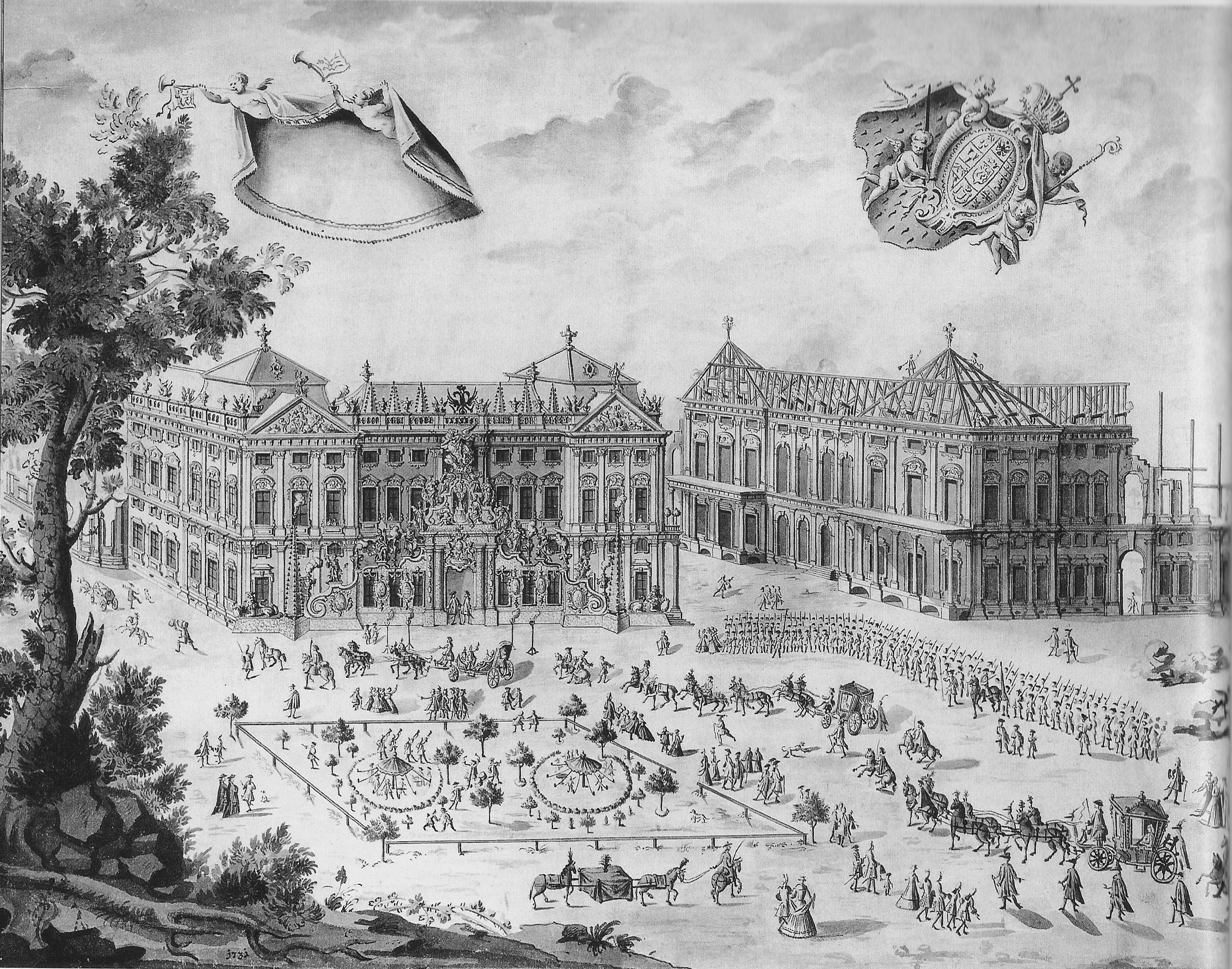 File:Residenz Würzburg im Bau 1731.jpg