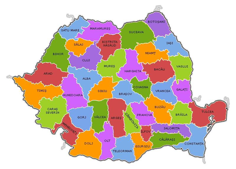 Harta judete Romania