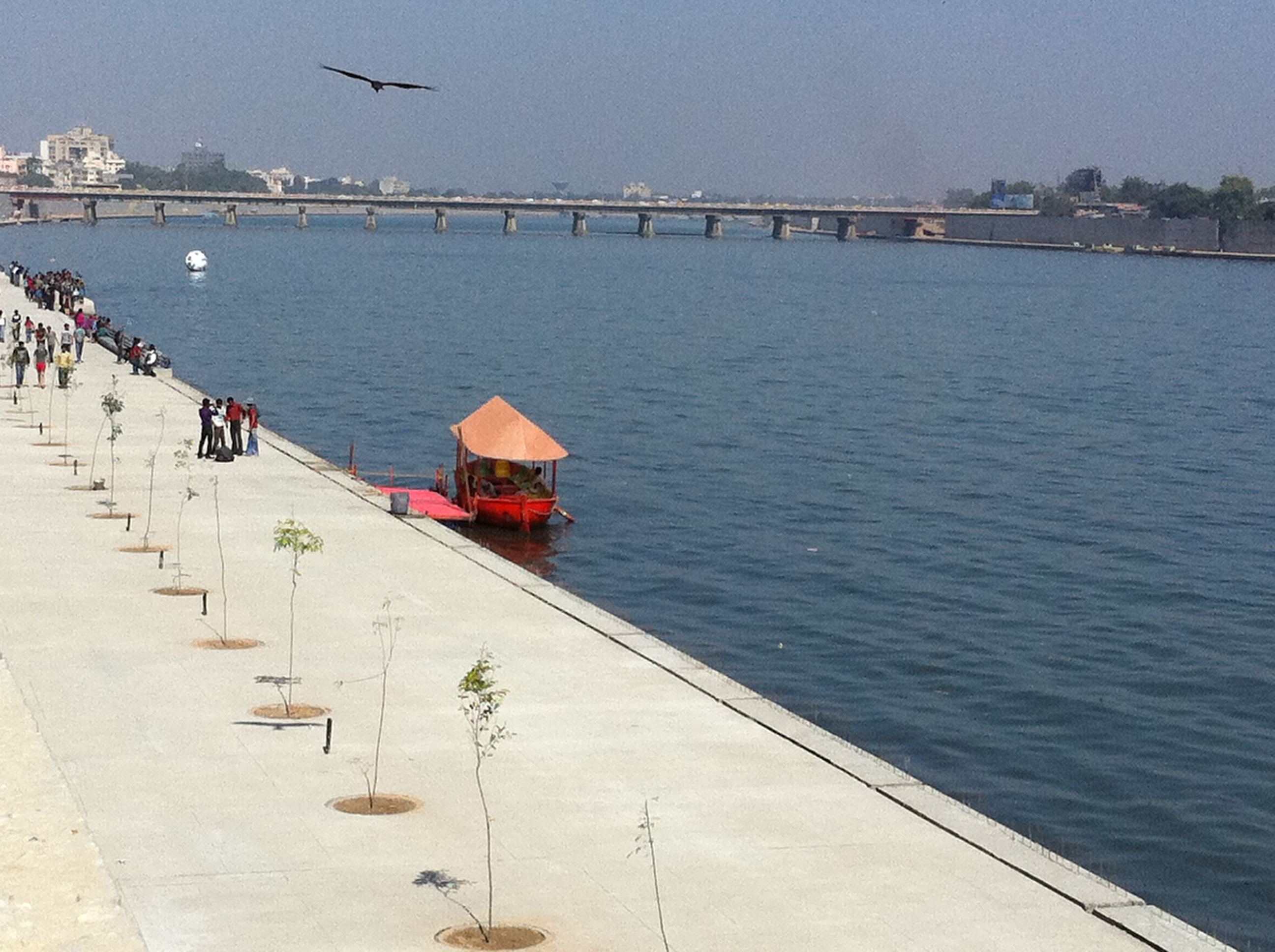 AMC has undertaken Sabarmati Riverfront Development Project with an objective of environmental improvement with provision of slum rehabilitation for poor.<!-- cite web --><!-- cite web -->