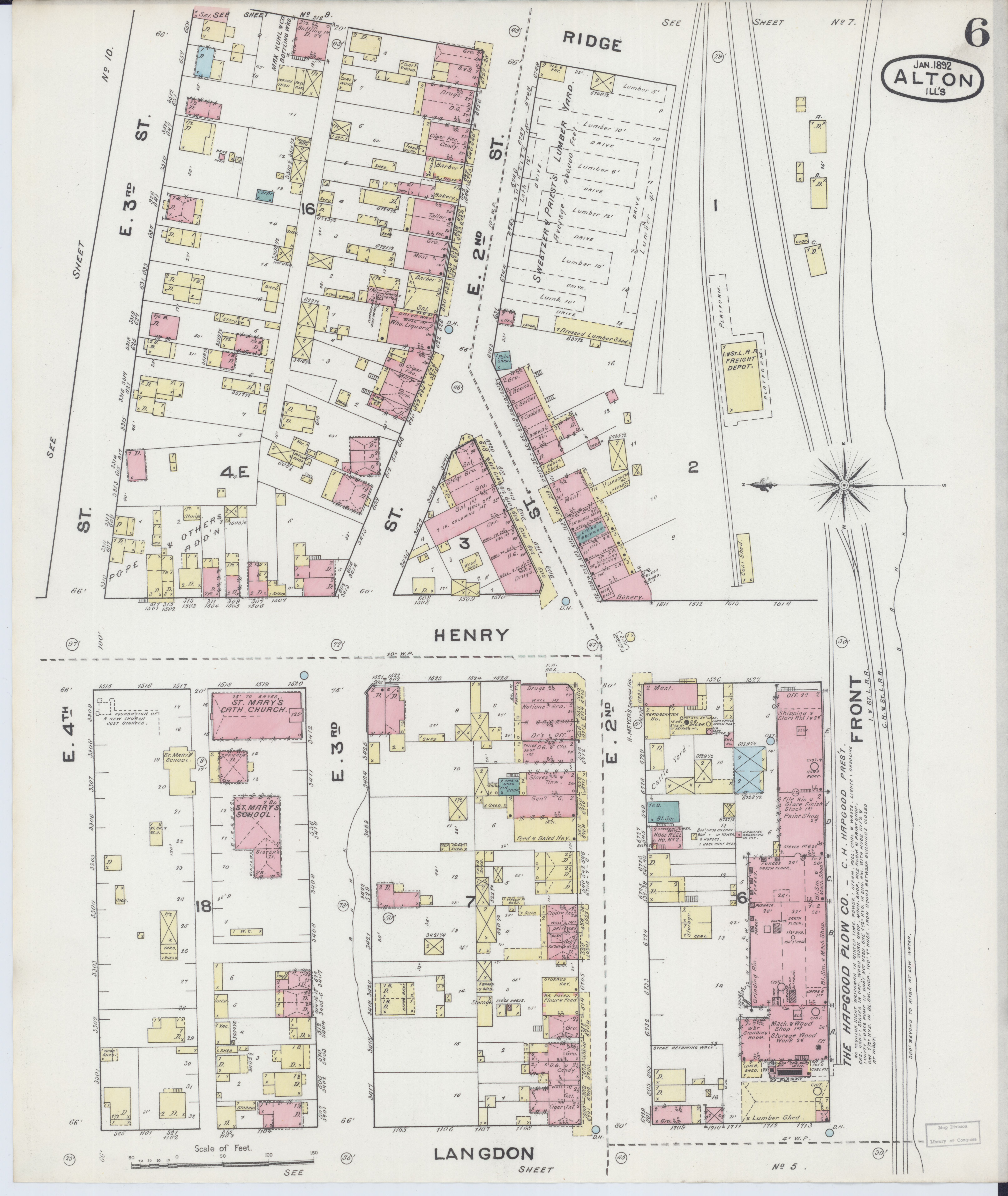 File Sanborn Fire Insurance Map From Alton Madison County Illinois