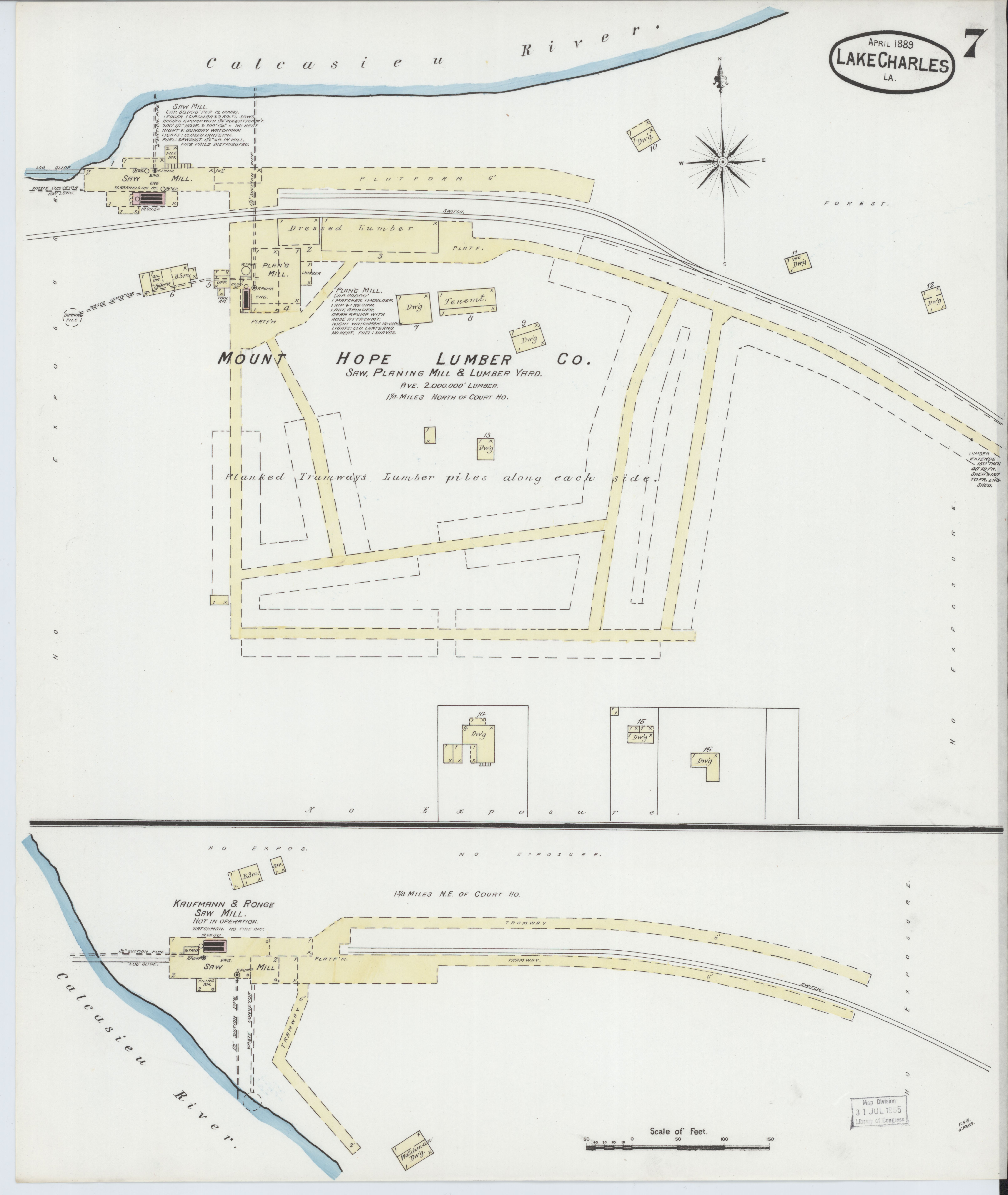 File Sanborn Fire Insurance Map From Lake Charles Calcasieu Parish