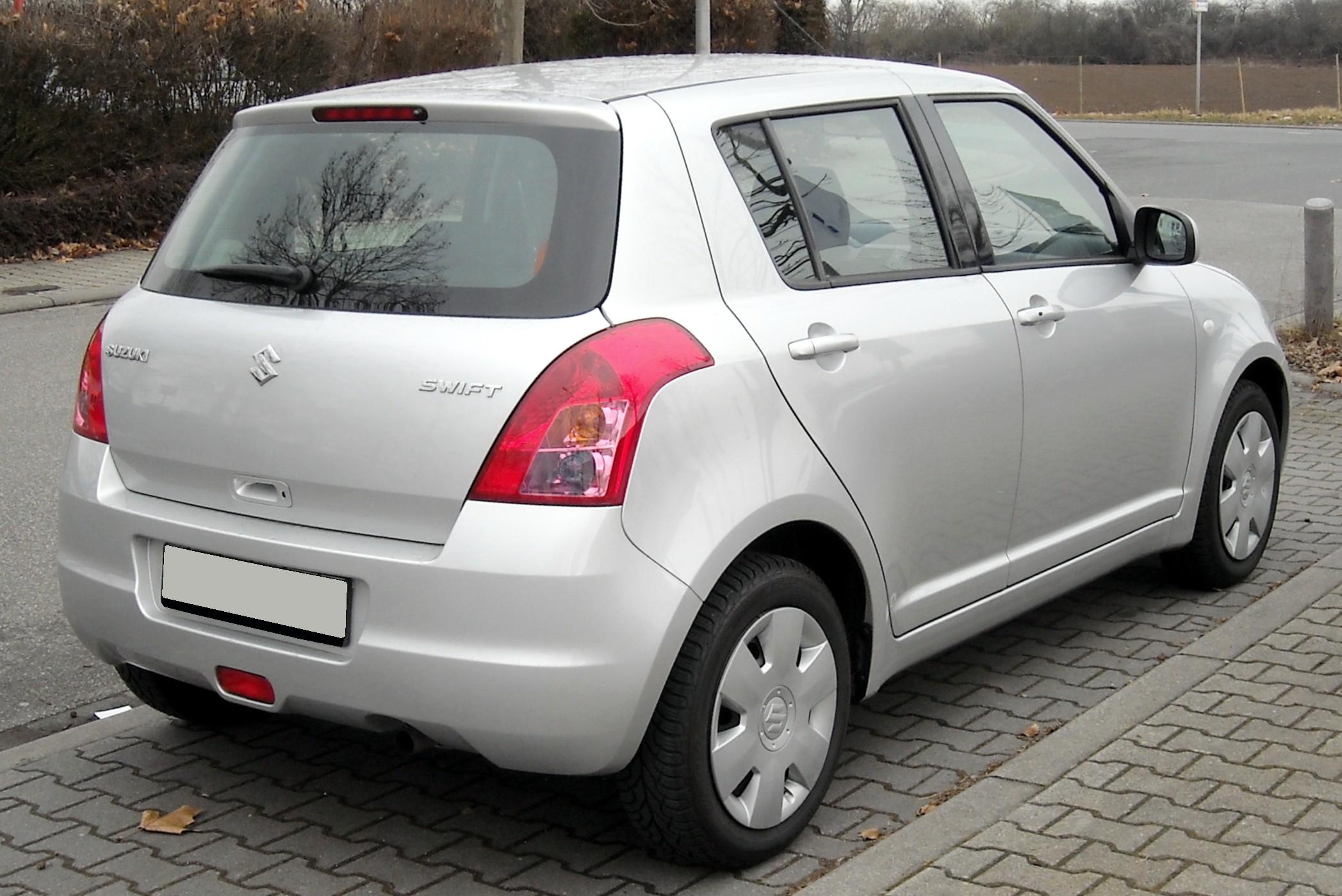 File:Suzuki Swift Rear 20090227.jpg