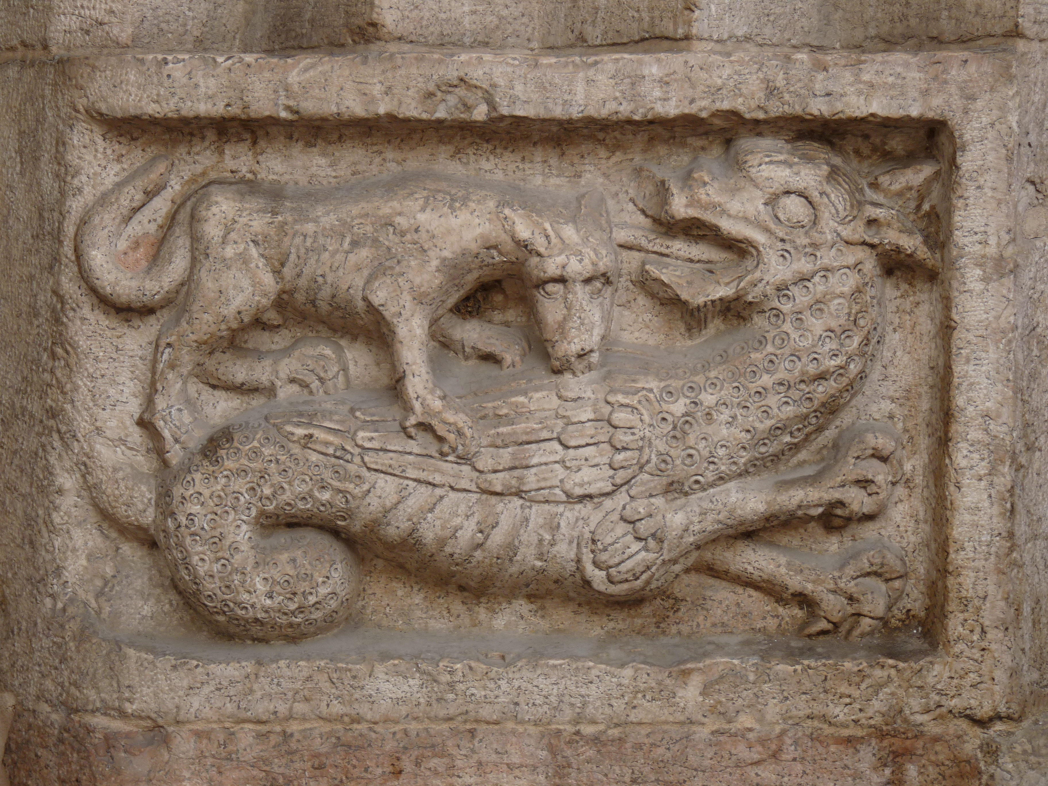 [Image: Trento-cathedral-relief_with_wyvern.jpg]