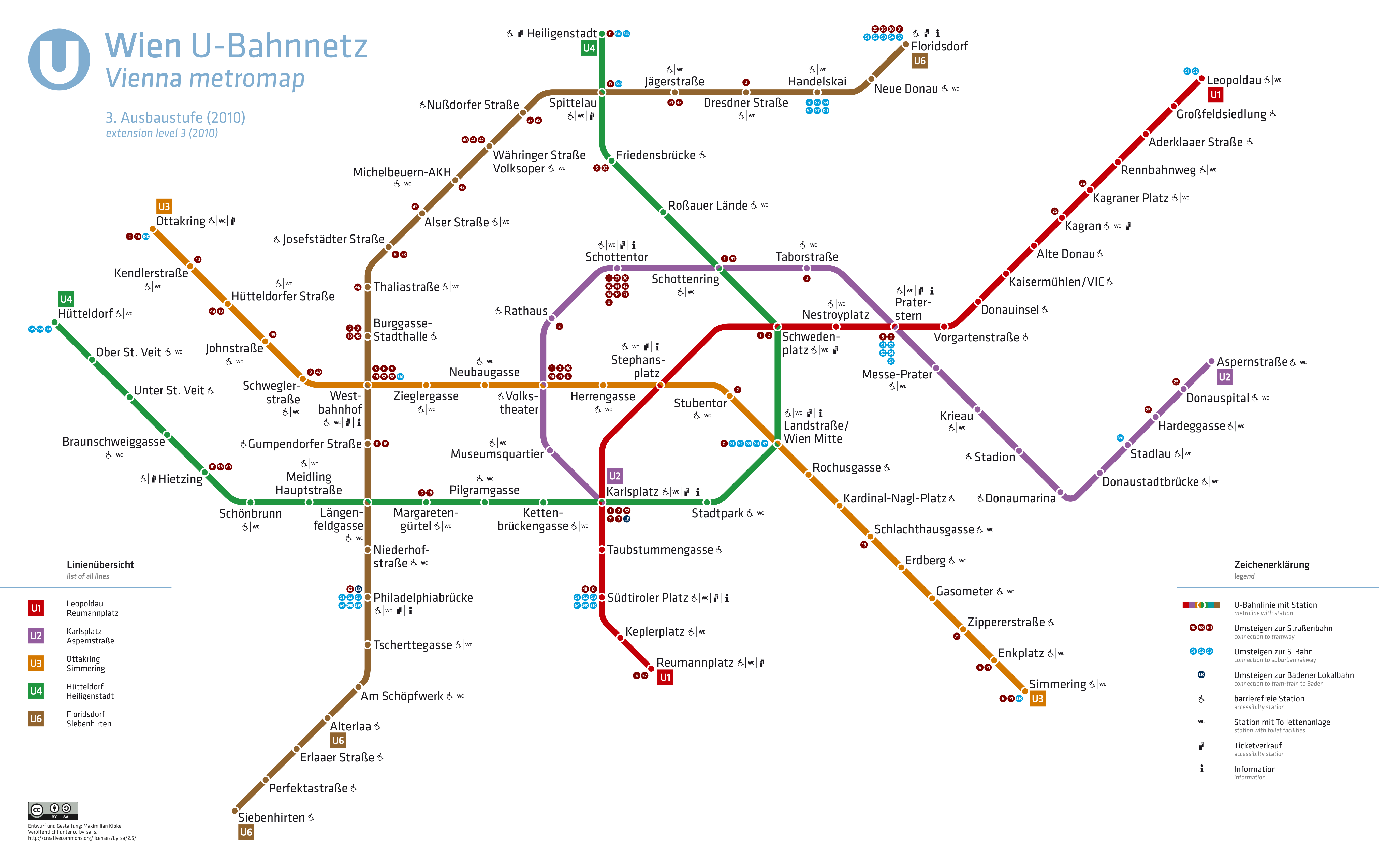 Vienna U-Bahn Metro w Wiedeniu