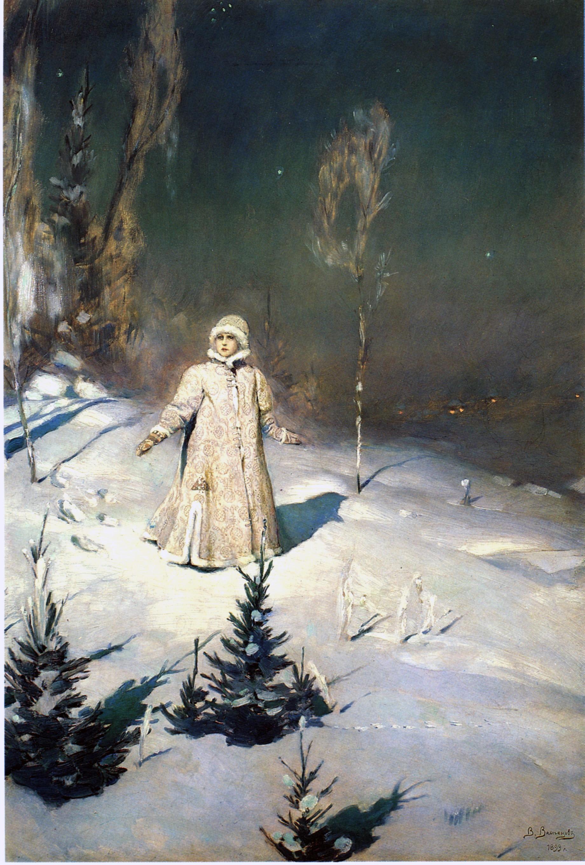 B Картина Васнецова Снегурочка. 1899.