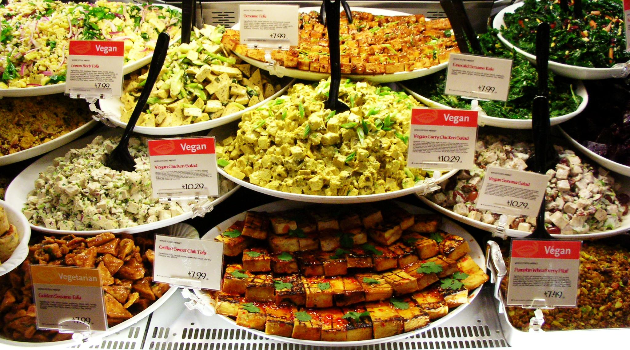 File vegan gardein tofu foods display cropped1 jpg for Awesome cuisine categories vegetarian