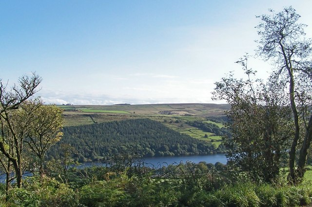View from Thornseat Lodge across Dale Dike Reservoir - geograph.org.uk - 987697