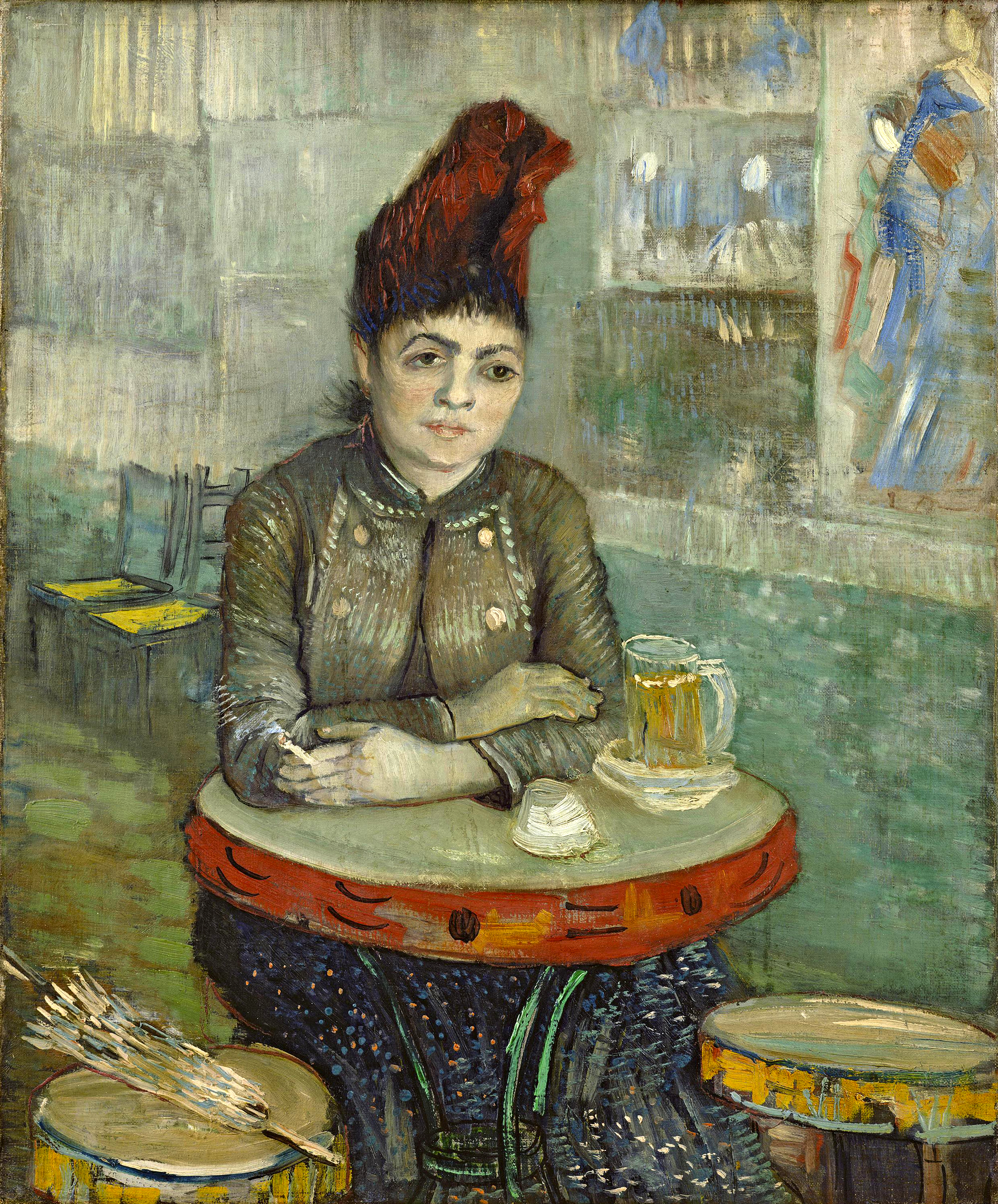 Vincent van Gogh - In the café - Agostina Segatori in Le Tambourin - Google  Art 10b1ad6a0b0f