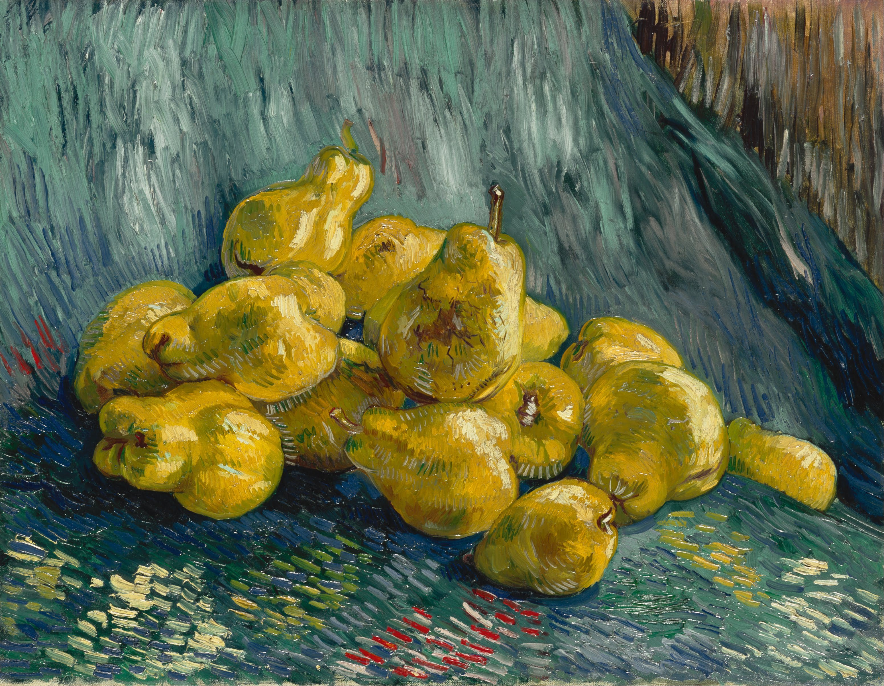 Image result for van gogh   and Still Life with Quinces (1887/88, Albertinum / Galerie Neue Meister, Staatliche Kunstsammlungen Dresden).