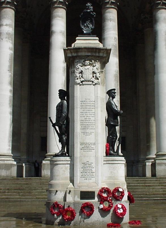 War Memorials in London England London Troops War Memorial