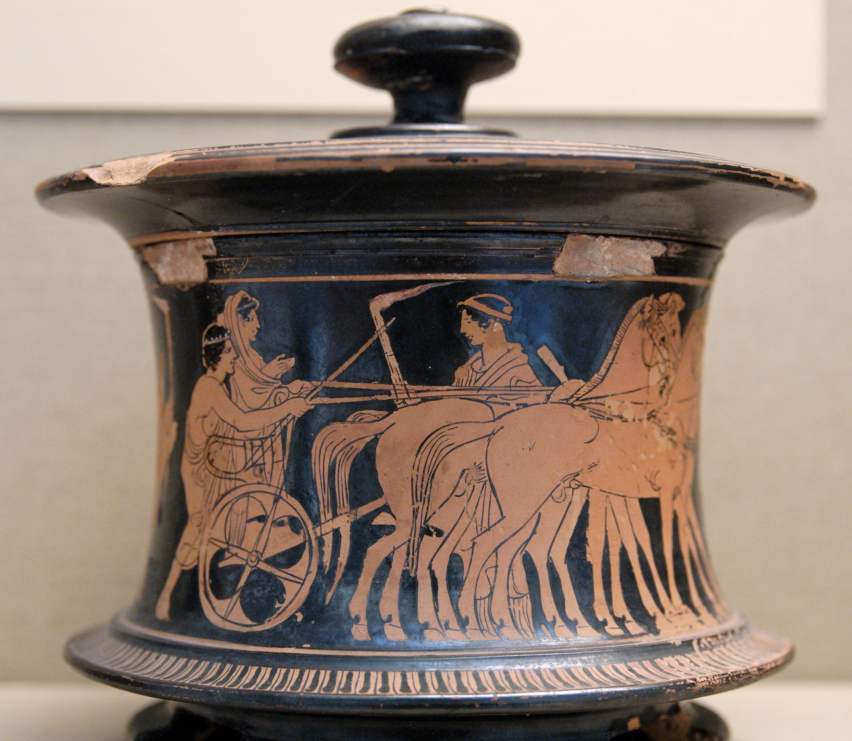 An Attic pyxis, 440–430 BC (British Museum)