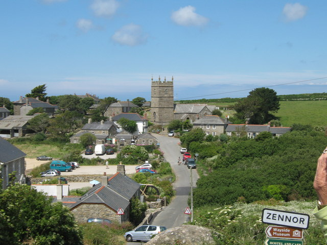 File:Zennor Church From Open Top Bus on B3306 - geograph.org.uk - 1376552.jpg