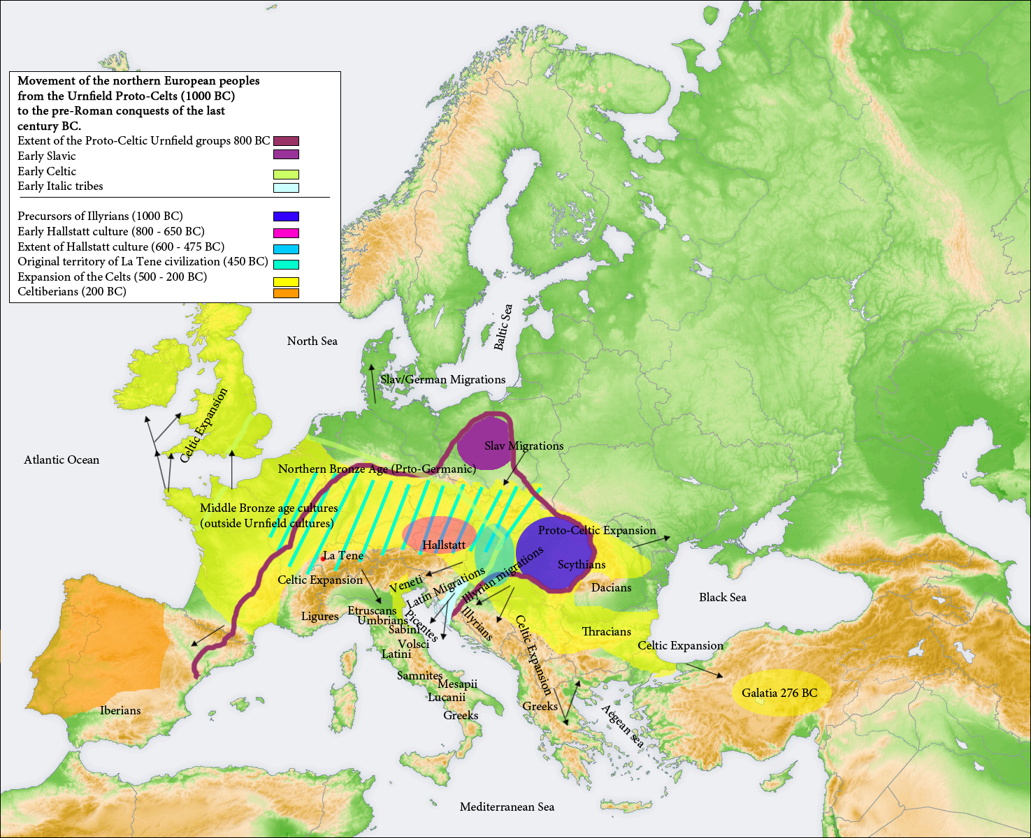 Map Of Europe In 1000.File 1000bc Migrations Europe Png Wikimedia Commons