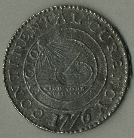 1776 Continental Coin Obverse